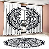 Best Cosmos Eye Glasses - Littletonhome Occult Thermal Insulating Blackout Curtain Realistic Retro Review