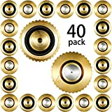 40 Pieces Brass Misting Nozzle, Low Pressure Atomizing Mist Nozzle, 10/24 UNC 0.4 mm Orifice Replacement Heads for Greenhouse Landscaping and Outdoor Cooling System