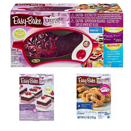 Easy Bake Ultimate Oven Bundle Includes Easy Bake Ultimate Oven Magenta With Bonus Items And Ultimate Party Pretzel Refill Pack