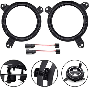 SPL All-directional Adjustment Left /& Right Headlight Mounting Brackets with Adapters Special For 2018 2019 Jeep Wrangler JL