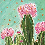 Paperproducts Design PPD 1252745 Sonora Cactus Beverage/Cocktail Paper Napkins,5''x5'', Multicolor