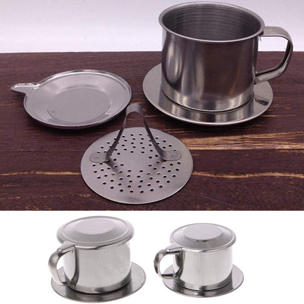 Vietnamese Coffee Filter Maker,Stainless Steel Vietnam Vietnamese Coffee Simple Drip Filter Maker Infuser New (100ml) by Way2top (Image #4)