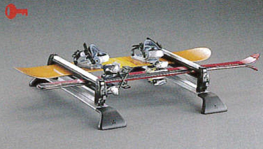 スキー&スノーボードアタッチメント(平積みアルミロング)(スライディングマジックルーフキャリア) 国内三菱純正OP Mitsubishi PAJERO 三菱パジェロ(V60/70系) B07DFBWSZK