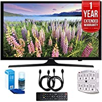 Samsung UN50J5000 50-Inch HD 1080p LED HDTV (2015 Model) with 1 Year Extended Warranty, Professional Screen Cleaning Kit, and Two (2) 6 Foot HDMI Cables Bundle