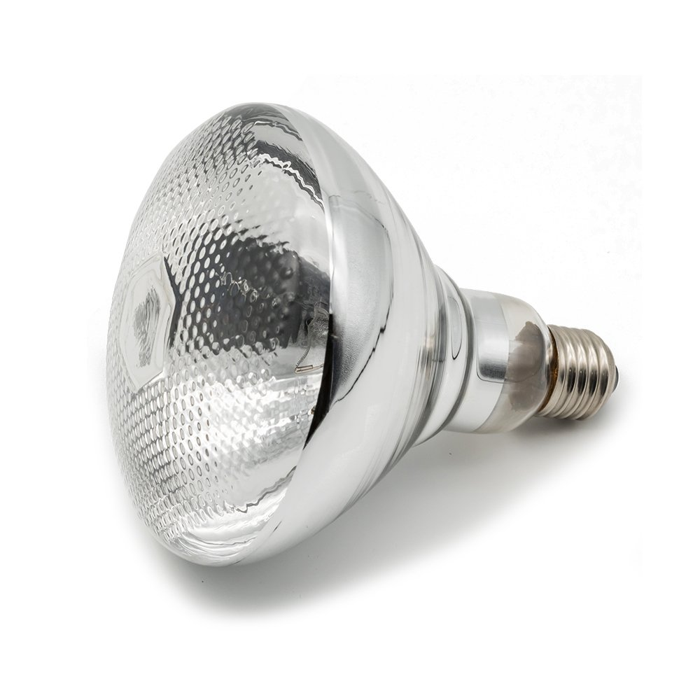 Fengrun Lighting 150 Watt / 250 Watt, Hard Glass(Water Proof), BR38(PAR38), Clear, Infrared Heating Bulb, for Swine & Poultry