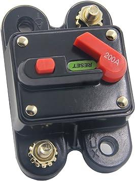 200 Amp Manual Reset Circuit Breaker 12v//24v Car Auto Boat Fuse Stereo Audio