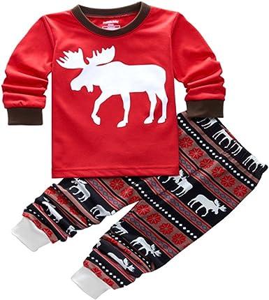 Pijamas de Navidad Familia Pijamas Navideñas Adultos Pijama Familiares Manga Larga Hombre Mujer Niños Niña Chica Bebe Trajes Navideños para Mujeres ...