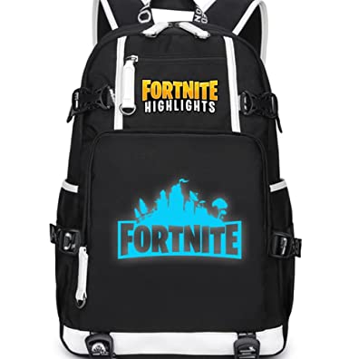 74da41d2c9 Fortnite Luminous Backpack School Bag Bookbag for Boys Men Kids Children ( Black)  Amazon.co.uk  Clothing