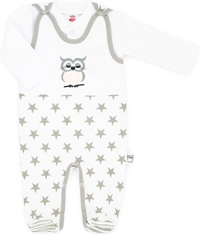 01134 Eule- Makoma Baby M/ädchen Strampler-Set mit Langarmshirt 56-74
