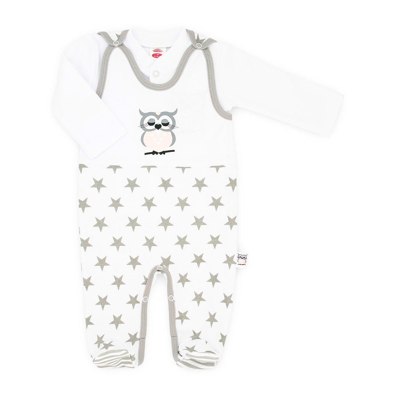 56-74 Makoma Baby-Mode M/ädchen Strampler-Set mit Langarmshirt