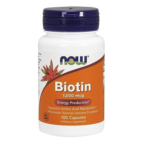 Biotina, 1000 mcg, cápsulas de 100 - Now Foods