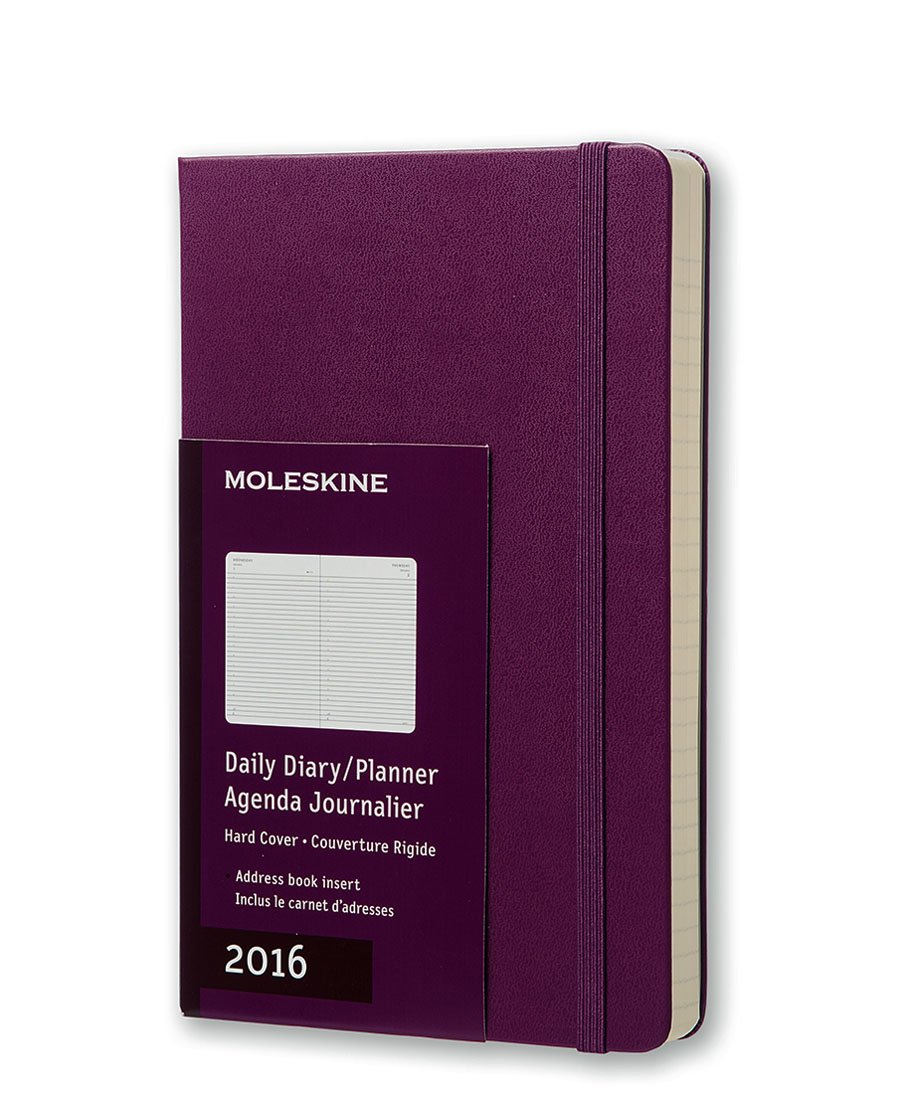 Amazon.com : Moleskine 2016 Daily Planner, 12M, Large, Mauve Purple, Hard  Cover (5 x 8.25) : Office Products