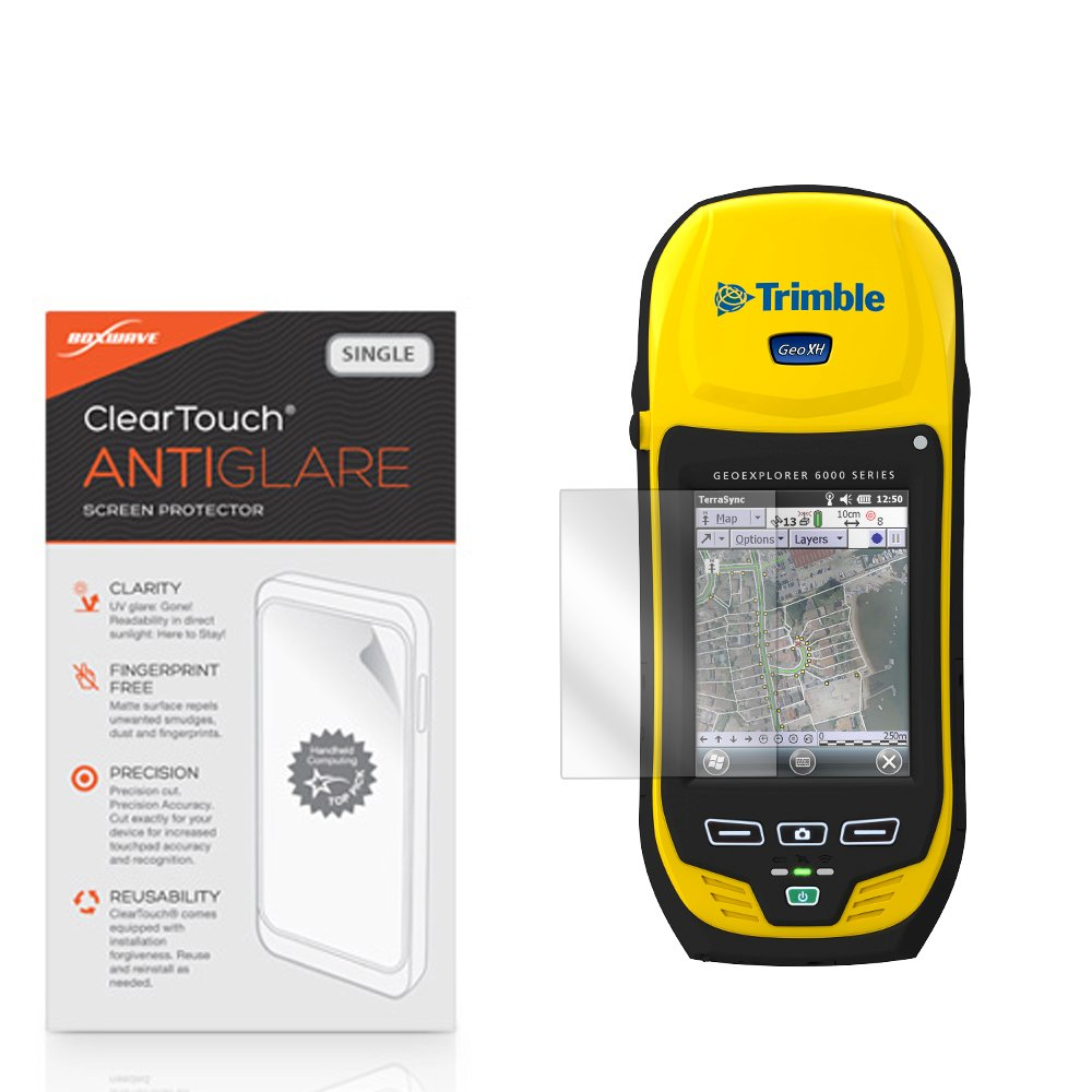 Trimble GeoXH Screen Protector, BoxWave [ClearTouch Anti-Glare] Anti-Fingerprint, Scratch Proof Matte Film Shield for Trimble TSC3 | GeoXT 2005 Series | GeoXH by BoxWave