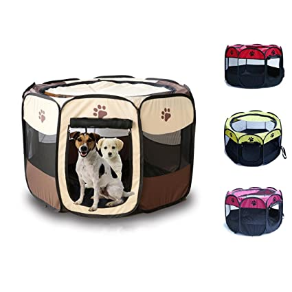 Puppy Kitten plegable tienda de campaña, Parque para perros pequeños gatos, Oxford valla para