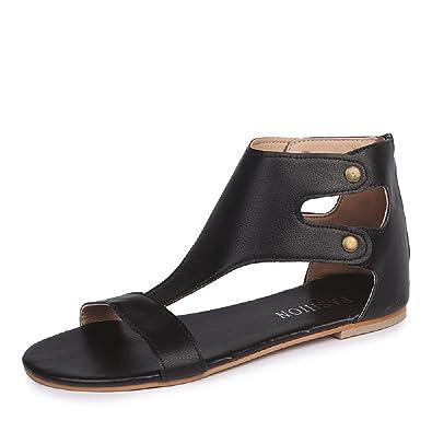 a06470e6657ee JOYTO Women Sandals Flat