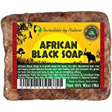 #1 Best Quality African Black Soap - Raw Organic Soap for Acne, Dry Skin, Rashes, Scar Removal, Face & Body Wash, Authentic Beauty Bar From Ghana West Africa Incredible By Nature