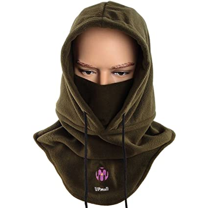 Tactical Balaclava Ski Face Mask Windproof Fleece Hood Hat Sports Mask  -Army Green d3aaea0c2af