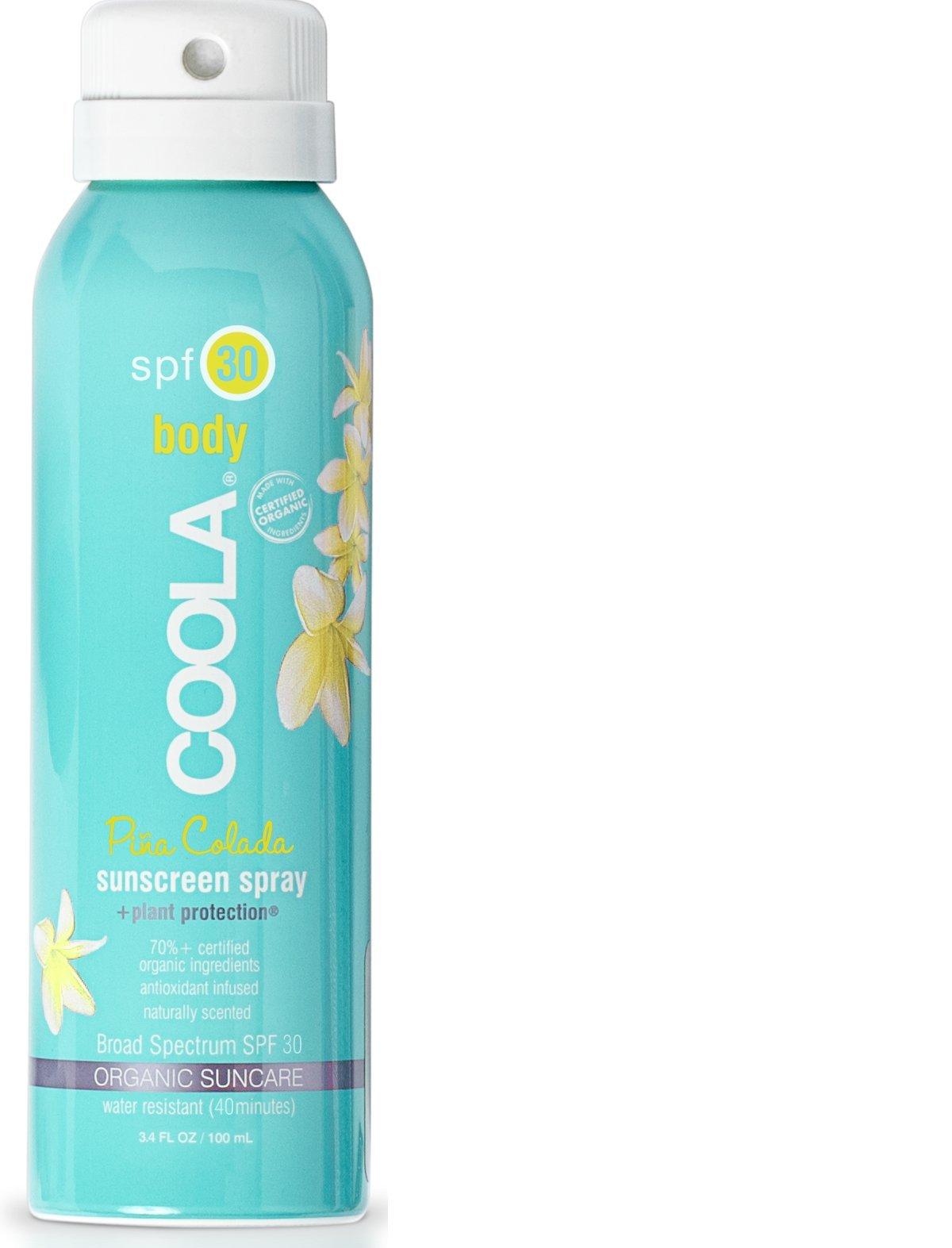 Coola Suncare Suncare Pina Colada Sport Sunscreen Spray SPF 30, 3.4 Fl Oz