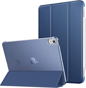MoKo Case Fit New iPad Air 4th Generation 2020- iPad 10.9 Case Slim Lightweight Smart Shell Stand Cover with Translucent Frosted Back Protector for iPad 10.9 inch, Auto Wake/Sleep,Navy Blue