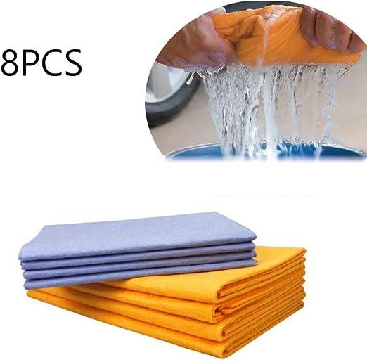 Juego de 8 toallas antigrasa de fibra de bambú para lavar en el ...