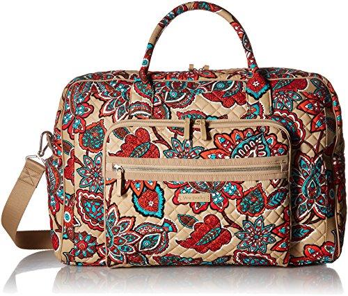 Vera Bradley Iconic Weekender Travel Bag, Signature Cotton, Desert Floral