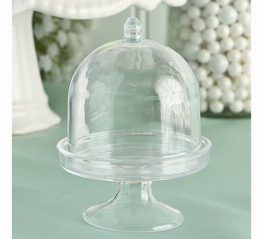 Plastic Mini Cake Stand Party Favor, 3 Inch, Pack of 50