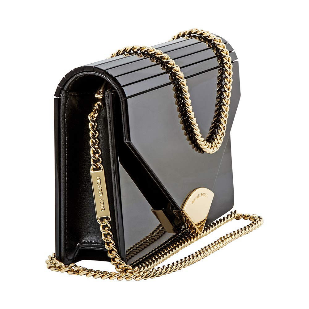 1514b63eb447 Michael Kors Barbara Black Patent Envelope Clutch Bag Black Patent   Amazon.co.uk  Shoes   Bags