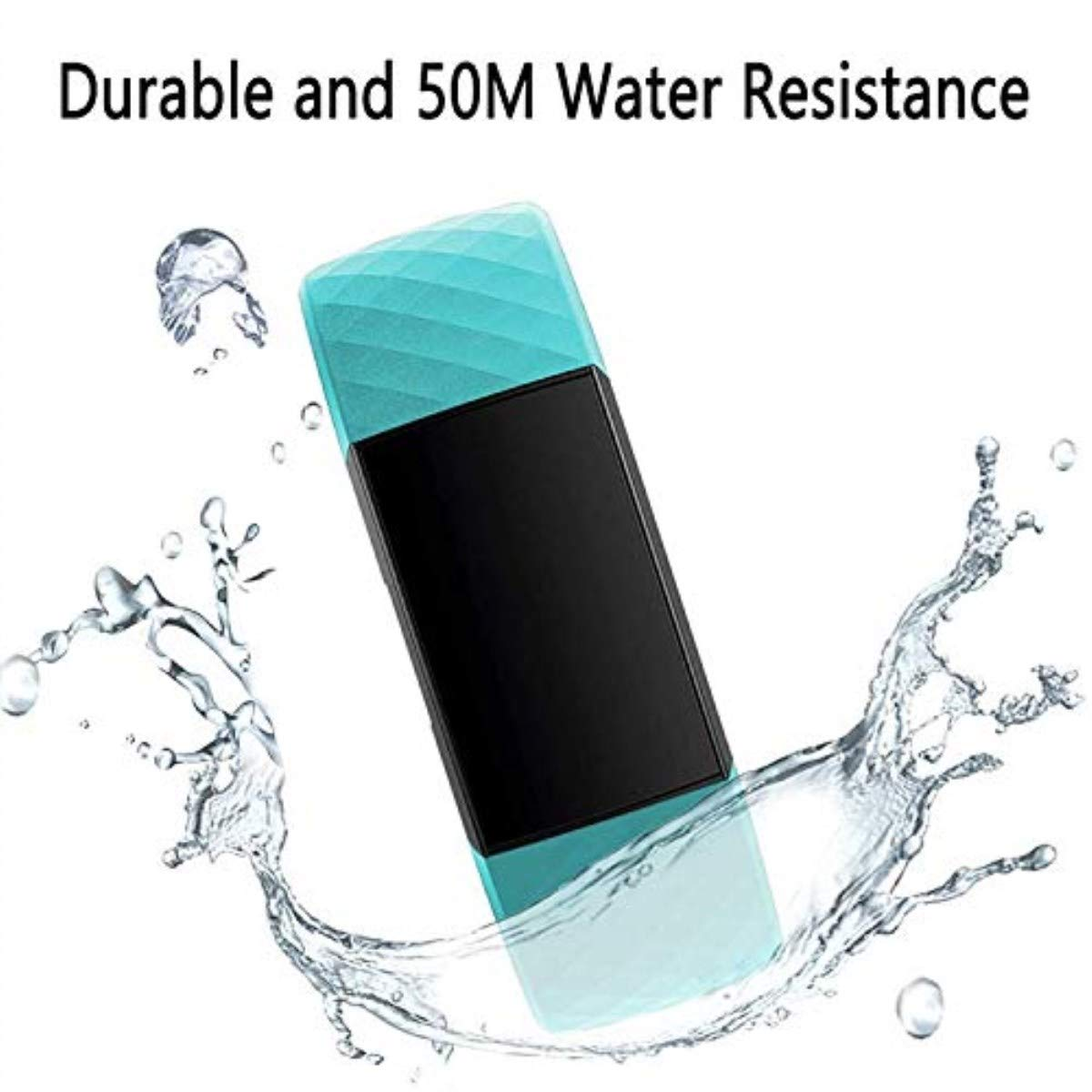Silicone Waterproof Replacement Sport Strap Fitness Wristband for Women Men Large Small Deyo Replacement Bands Compatible for Fitbit Charge 3//Charge 3 SE Fitness Activity Tracker Teal, Small