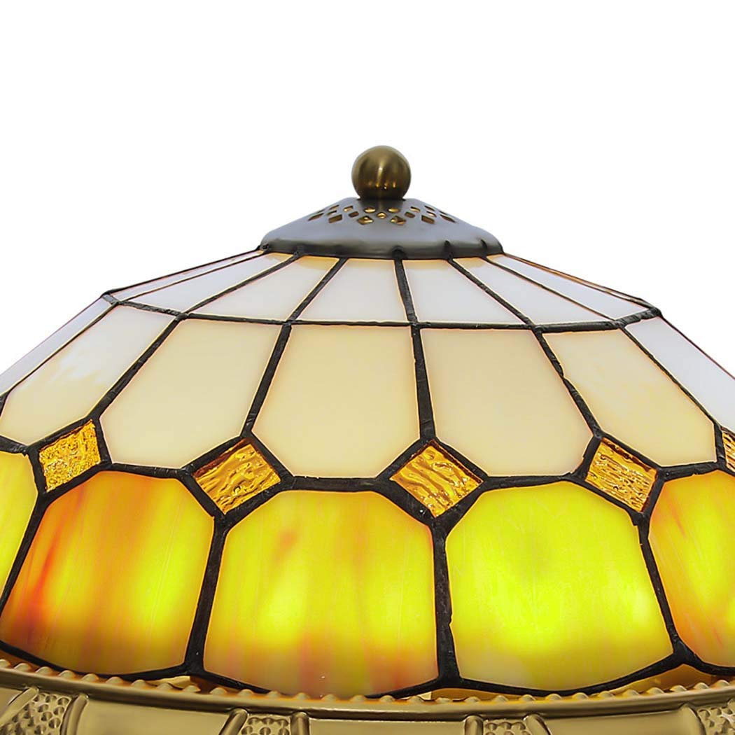 Amazon.com: Lámpara de techo estilo Tiffany LED, redonda, de ...