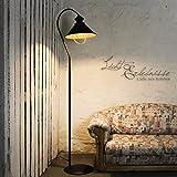 Lampe sur pied loft en métal marron/intérieur en cuivre avec culot e27 industrielampe vintage de sol industriel