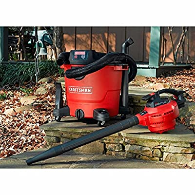 Craftsman 16 Gallon 6.5 Peak HP Portable Heavy Duty Detachable Blower Wet/Dry Vac Leaf Vacuum for Home and Shop use