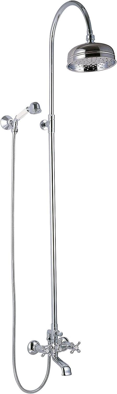 Clever 96747 Grifo de baño/ducha bimando, con tubo extensible ...