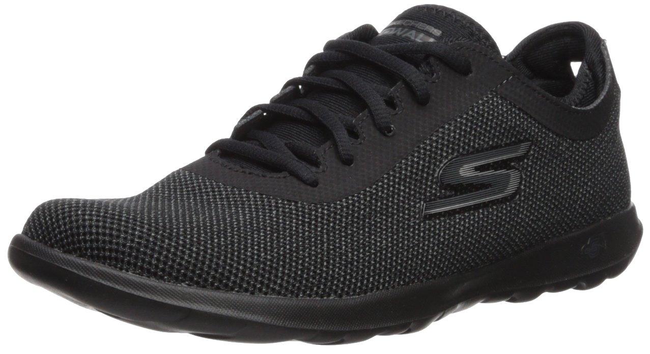 Skechers Women's Go Walk Lite-15360 Sneaker B072N8V3G1 8 B(M) US|Black