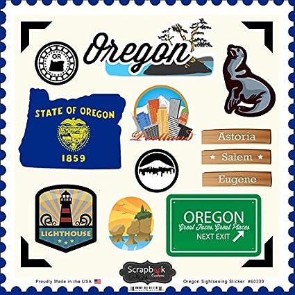 Scrapbook Customs Themed Paper and Stickers Scrapbook Kit 12 x 12 Oregon Vintage