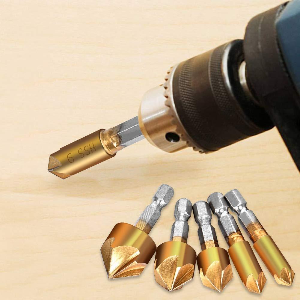 6Pcs Stub Length Drill Bits Heavy Duty Heavy Duty High Speed Steel Screw Machine Length Kodiak USA Made Letter X Drill