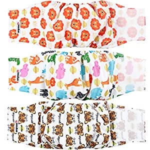 wegreeco Washable Male Dog Belly Band (New Pattern)- Pack of 3 – Washable Male Dog Belly Wrap, Dog Diapers Male (S, Magic)