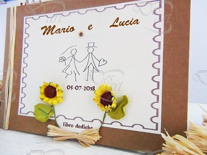 Guestbook Matrimonio Girasoli : Guestbook libro dediche per matrimonio tema girasole amazon