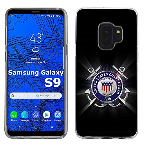 - [SlickCandy] Samsung Galaxy S9 [Clear] Total Defender Soft Slim Phone Case [United States Coast Guard Print]