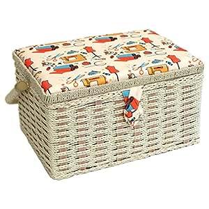 Sewing online fm 005 notions cesta de costura naranja - Cesta de costura ...