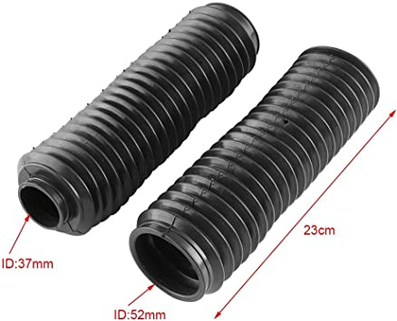 Pair Motorcycle Rubber 42mm Front Dust Cover Gaiters Gators Boot