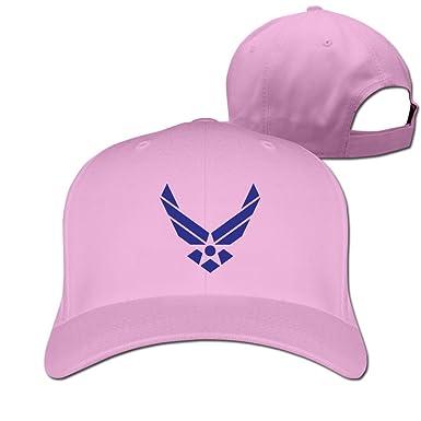 fba9fbb5ddf Amazon.com  Usa Air Force Wings Logo Pink Adjustable Baseball Hats ...