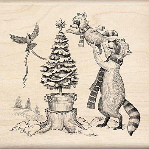 Inkadinkado クリスマス マウント スタンプ ウッドランド装飾 4.5