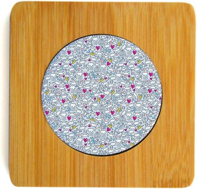 Amazon.com | Bamboo Ceramics Coasters for Drink Message ...
