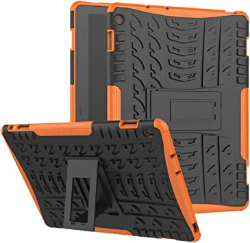 JARNING Tablet Case Funda pour Huawei Mediapad M3 Lite 10 (10.1 Inch),Heavy Duty Híbrida Rugged Armor eReader Tablet Case Dual Layer Bumper Carcasa Shell Back Cover (Naranja): Amazon.es: Electrónica