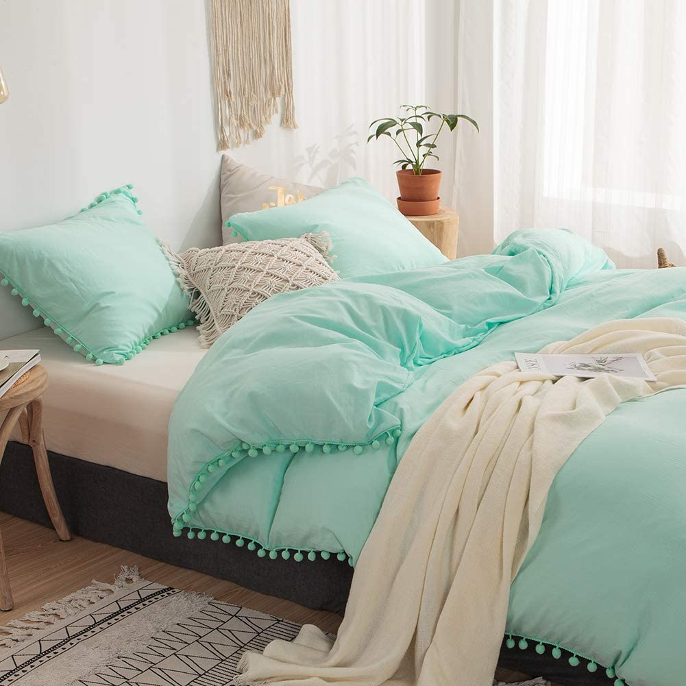 Aqua Teal Blue Quilt Set Bedspread With 2 Shams Soft Reversible Bedding Cover