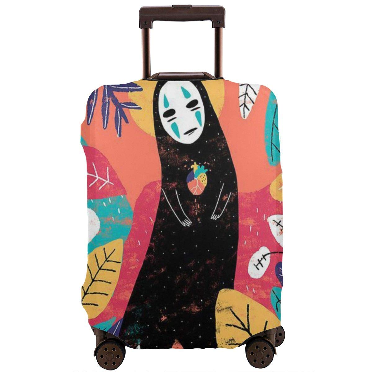 Travel Luggage Cover Cartoon Spirited Away No Face Man Travel Luggage Cover Suitcase Protector Fits 26-28 Inch Washable Baggage Covers