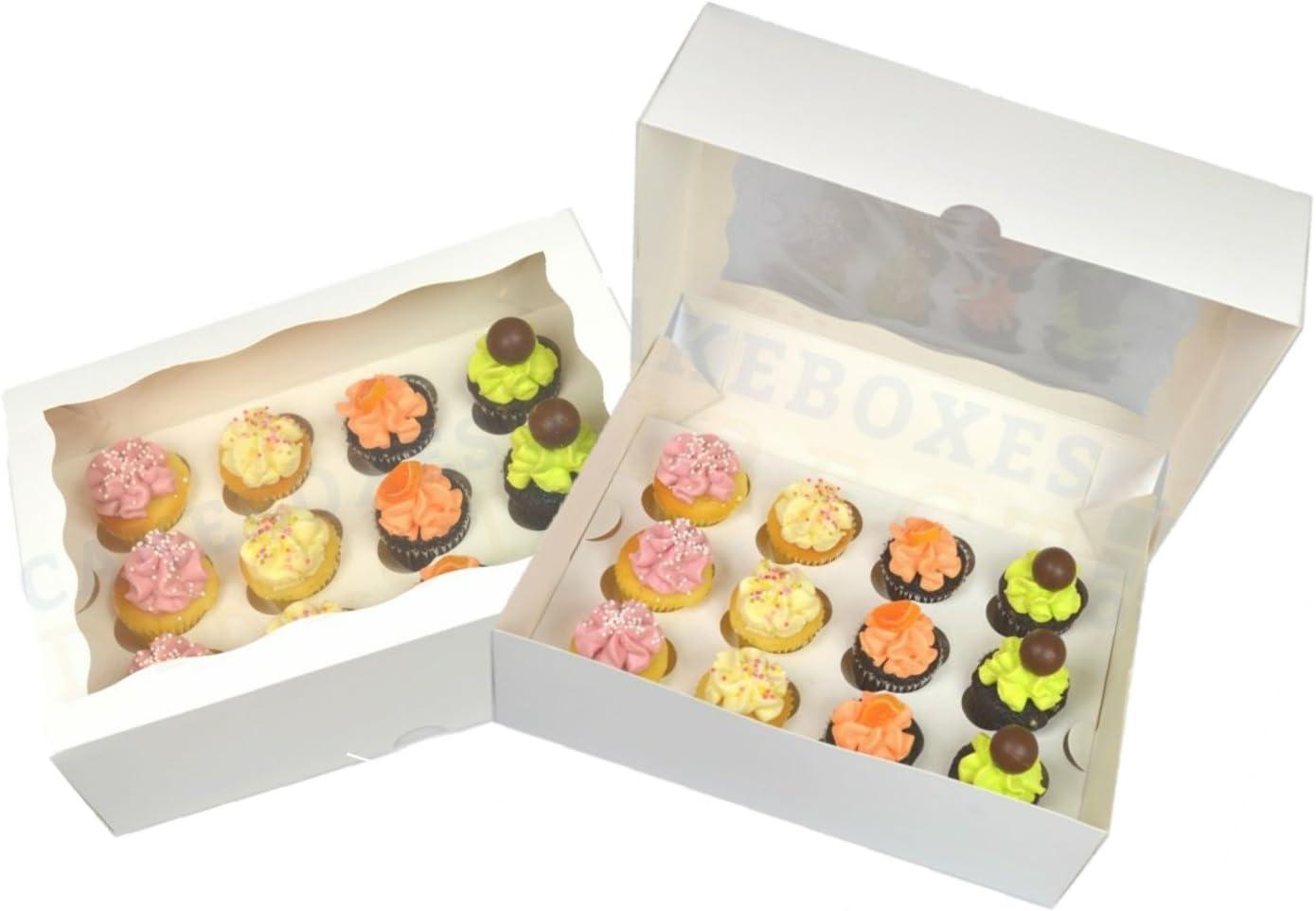 Lot De Cinq 1ere Classe Post Premium Boite A Mini Cupcakes Pour 12 Cupcakes Avec Fenetre Et Intercalaire Patisserie Boites De Transport Pour Gateaux En Carton