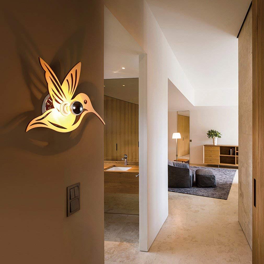 Einfache amerikanische Bett Schlafzimmer Nachttischlampe kreative Persönlichkeit Holz geschnitzt Europäischen Gang Balkon Xuan Guan Guang Lampe
