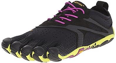 separation shoes 3abe4 284fa Vibram FiveFingers Women s V-Run Barefoot Shoes Black Yellow Purple 36 and  Premium
