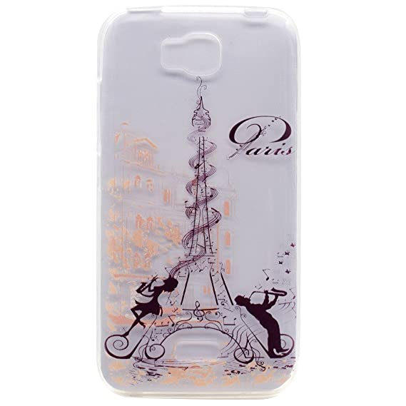 competitive price 2c84e 59a14 Amazon.com: Huawei Y5C Case, Modern Music Tower Pattern Premium ...